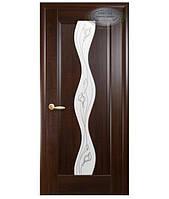 Межкомнатные двери Волна со стеклом  рисунок Р-2