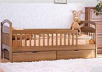 Венгер Арина кровать одноярусная  с задней перегородкой 875х1980х880мм  80х190