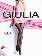 Колготы женские имитация чулков с узором в горошек Giulia Elisa 40 model 6