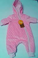 Комбинезон Демисезонный для малышей 62 см Розовый 03099004632 КВ99р Бэмби Украина