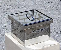 Коптильня из нержавеющей стали толщиной 1,5 мм с гидрозатвором. Для горячего копчения. Не дорого. Код: КГ309