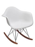"""Кресло качалка,кресло для отдыха,пластиковая мебель,кресло """"Лаунж"""" белое"""