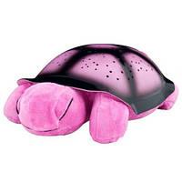 Музыкальный ночник проектор звезд Черепаха  Pink