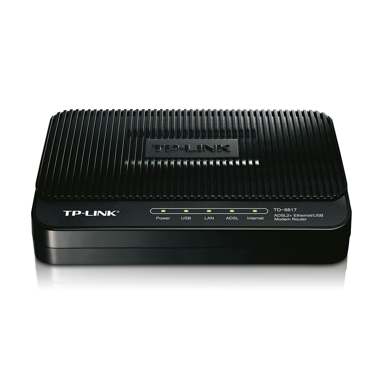 Модем TP-Link TD-8817 (ADSL ІІ RJ-11, PPTP, L2TP, IPsec, PPPoE, 1xLAN 10/100 Мbps RJ-45, 1xUSB 1.1,
