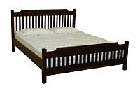 Двуспальная деревянная кровать из натуральной древесины, производства мебельной фабрики Скиф. Модель Л-212