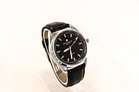 Мужские часы Часы  Patek Philippe черные в  стальном корпусе(копия)