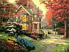 Картины раскраски по номерам 40×50 см. Осенние краски Художник Томас Кинкейд