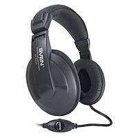 Гарнітура Sven AP-860MV (50-16000 Гц, 32 мВт, навушники 118 дБ, мікрофон 58 дБ, 2 м) Black