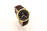 Мужские часы Часы  Patek Philippe коричневые  в золотом корпусе(копия)