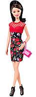 Кукла Барби Модница Ракель в красно-черном платье   (Barbie Fashionistas Raquelle Doll, Flower Print Dress wit