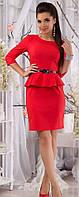 Платье мини с баской рукав от производителя  42 44 46 48 50 Р, фото 1