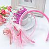 Дитячий обруч корона для волосся Металік для дівчаток рожевий діадема дитяча на голову прикраси для волосся, фото 2