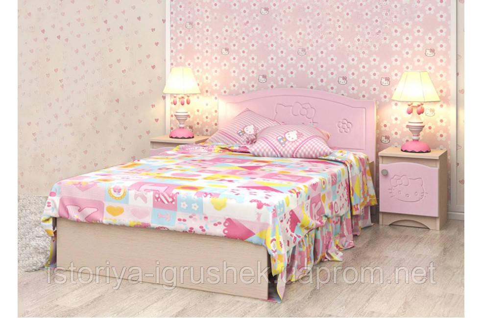 Детская кровать «Kiddy» 90x190 см, без ящиков, цвет: розов