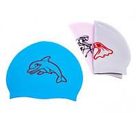 Шапочка для плавания многоцветная детская Sainteve с рисунком