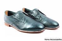 Туфли женские Angelo Vani натуральная кожа (комфорт, удобная колодка, каблук, зеленые)
