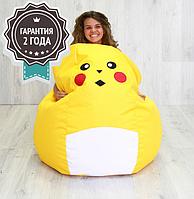 """Кресло мешок детское """"Pokemon Pikachu Big"""" L 130x95 см (ткань: оксфорд)"""
