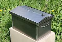 Коптильня с двух-ярусной крышкой домиком.  Для горячего копчения рыбы, мяса, птицы, сала и фруктов. Код: КГ310