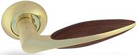 Дверная ручка на раздельной розе Tulip H-0558 GM/Oak Apecs