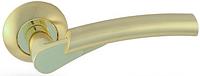 Дверная ручка на раздельной розе H-0521 GM/G Apecs