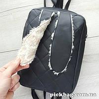 Женский рюкзак с ушками кролика Зай черный
