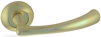 Дверная ручка на раздельной розе H-0569 GM матовое золото Apecs