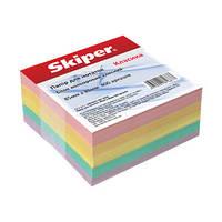 """Блок для записей проклееный ,цветной """"Skiper"""" (классика)"""