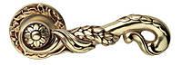 Дверная ручка на раздельной розе Poesia Французское золото 113 роза LineaCali