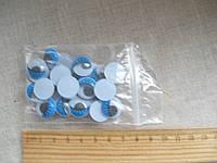 Глазки из пластика с ресницами, набор для творчества. Диаметр 14 мм, 25 шт