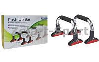Упоры для отжиманий с регулируемой высотой, Push-up bar (металл, неопрен) Y-109