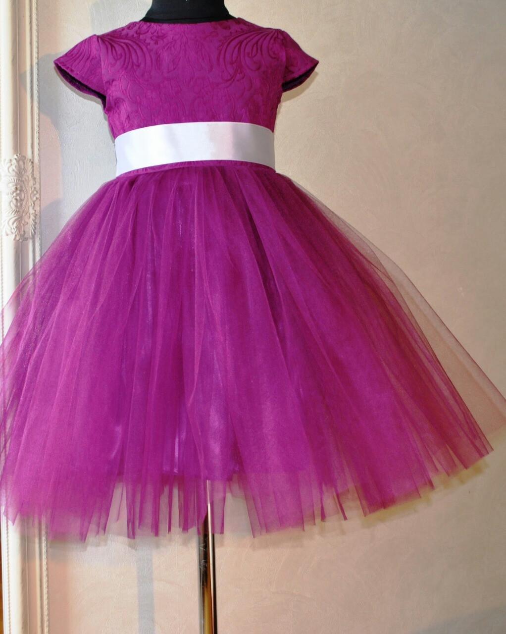 Нарядное платье для девочек Барокко -Сочная малина