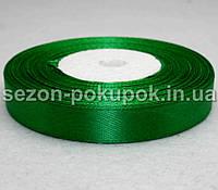 Лента атласная ширина 1,2 см (23 метра)  зелёный цвет