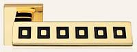 Дверная ручка на раздельной 019 розе Riflesso Ring глянцевое золото/чёрное кольцо Swarovski LineaCali