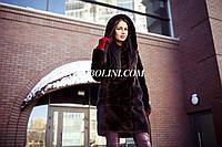 Шикарная шубка из меха скандинавской норки с капюшоном,цвет под соболя, в наличии в шоу руме г.Харькова