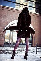 Шикарная шубка в шоу руме г.Харькова из меха скандинавской норки с капюшоном,цвет под соболя, в наличии