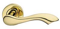Дверная ручка на раздельной розе Gamma золото MARIANI