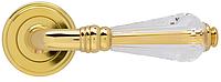 Дверная ручка на раздельной розе Crystal золото Mariani