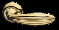 Дверная ручка на раздельной розе Elena золото MARIANI
