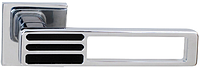Дверная ручка на раздельной розе Bridge 49 Big хром/черный R RDA