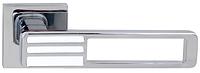 Дверная ручка на раздельной розе Bridge 49 Big хром/белый R RDA