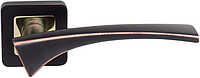 Дверная ручка на раздельной розе Como Z-40 золото/черный RDA