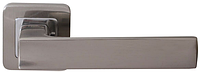 Дверная ручка на раздельной розе Cube Z-40 хром/матовый никель  RDA