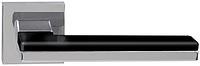 Дверная ручка на раздельной розе Domino Z-49 хром/черный RDA