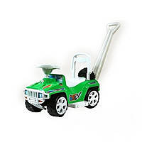 "Машинка-каталка ""Ориончик"" с ручкой, зеленая, ТМ Орион, 856ЗЕЛ"