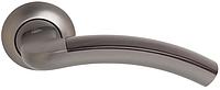 Дверная ручка на раздельной розе Largio Z-59 титан/темное дерево RDA
