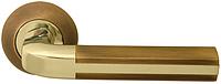 Дверная ручка на раздельной розе Gracia Z-59 латунь/матовый кофе RDA