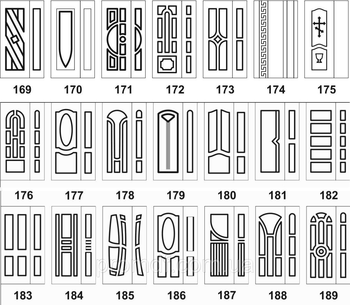 Накладки на меллические двери МДФ 10 мм