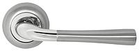Дверная ручка на раздельной розе Firenze Valencia 25 матовый хром/хром RDA