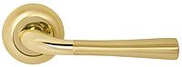 Дверная ручка на раздельной розе Firenze Valencia 25 полированное/матовое золото RDA