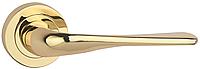 Дверная ручка на раздельной розе Alice Z-52 полированная латунь RDA