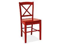 Кресло деревянное Signal CD-56 красный